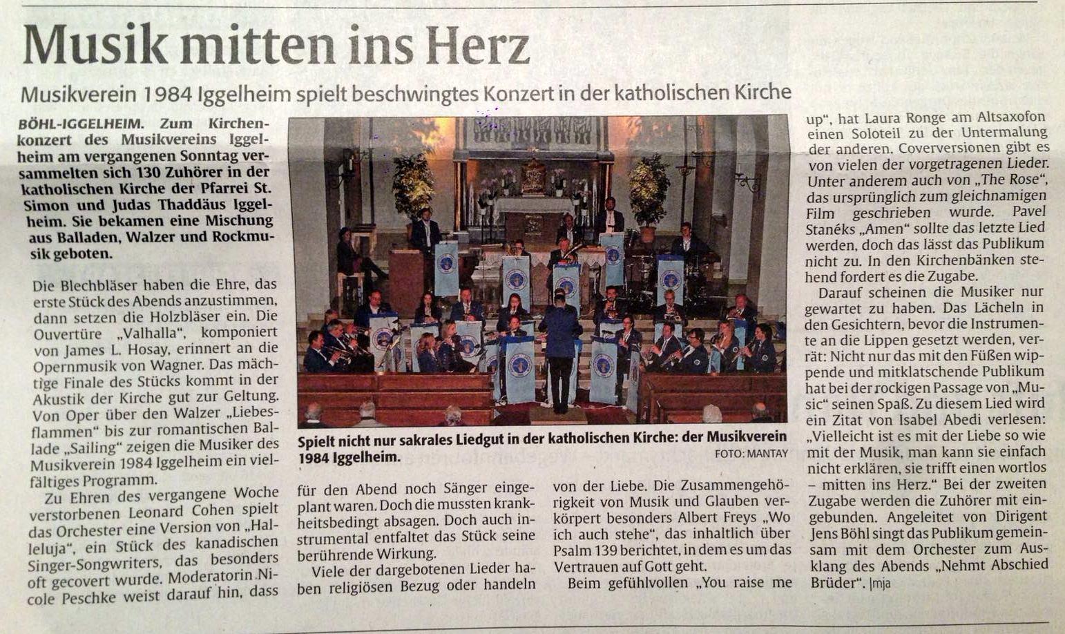 Konzertartikel Rheinpfalz