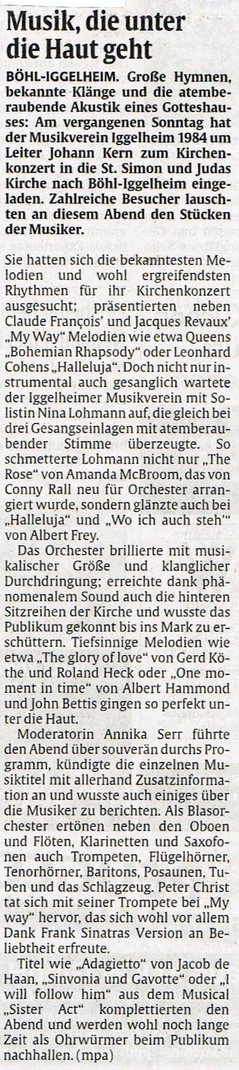 Bericht Rheinpfalz